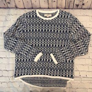 Ann Taylor LOFT Linen Cable-Knit Sweater